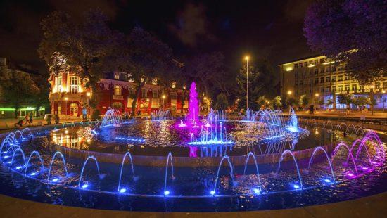 Singing fountains in Varna