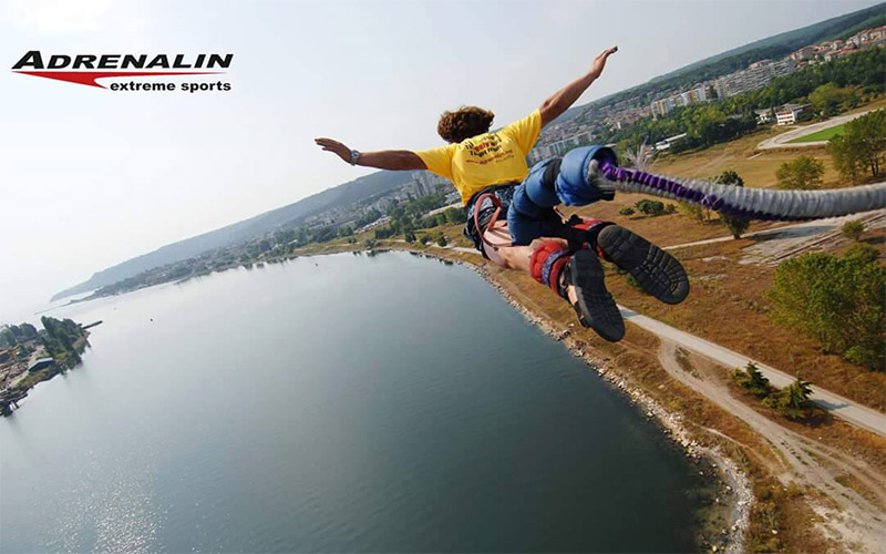 Bungee jumping with Club Adrenalin Varna