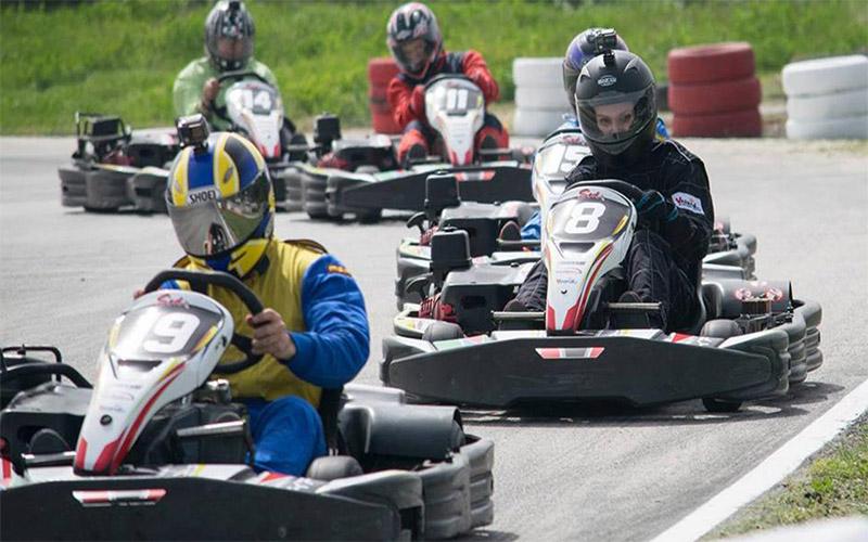 Racing at Varna Karting Track