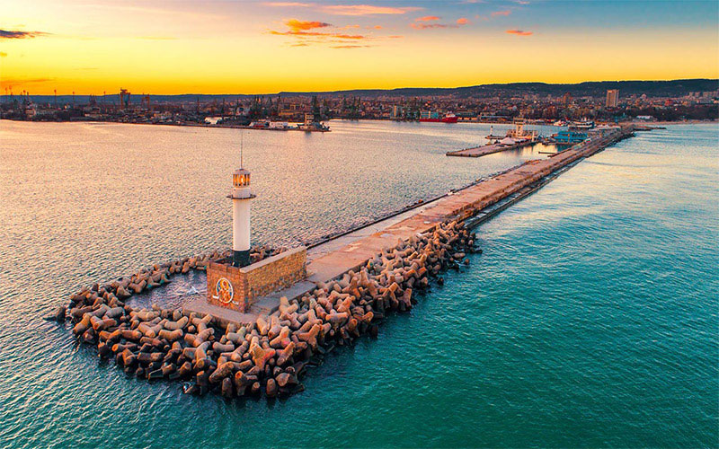 Varna Port and Lighthouse